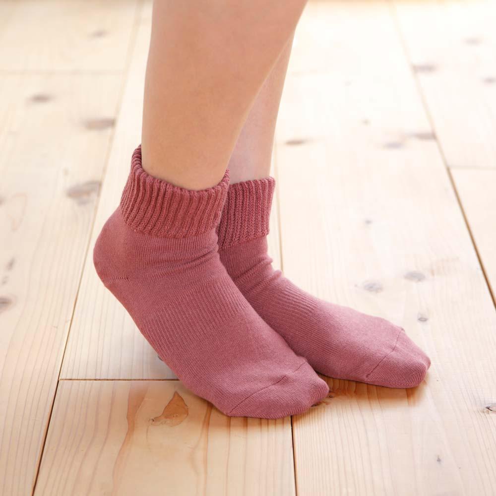 【かかとケア靴下】歩くぬか袋 足首ゆったり無地