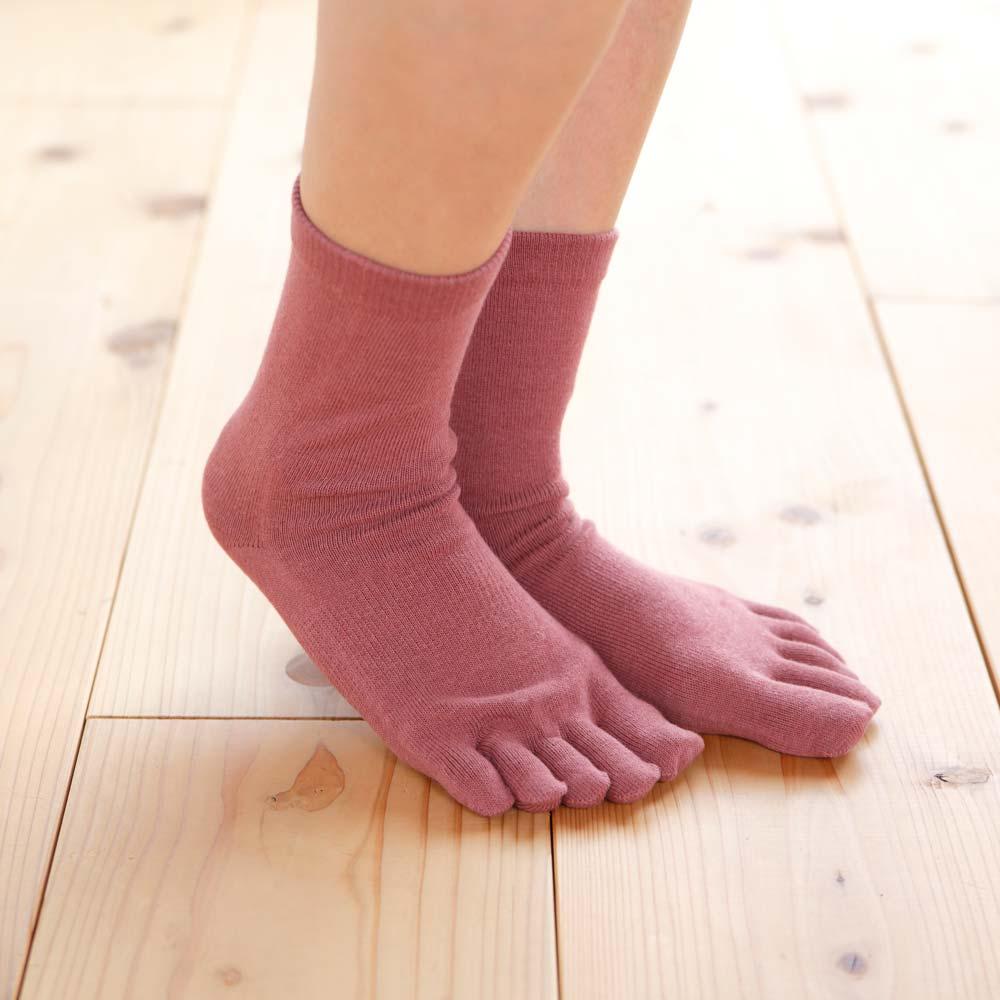 【かかとケア靴下】 歩くぬか袋 5本指