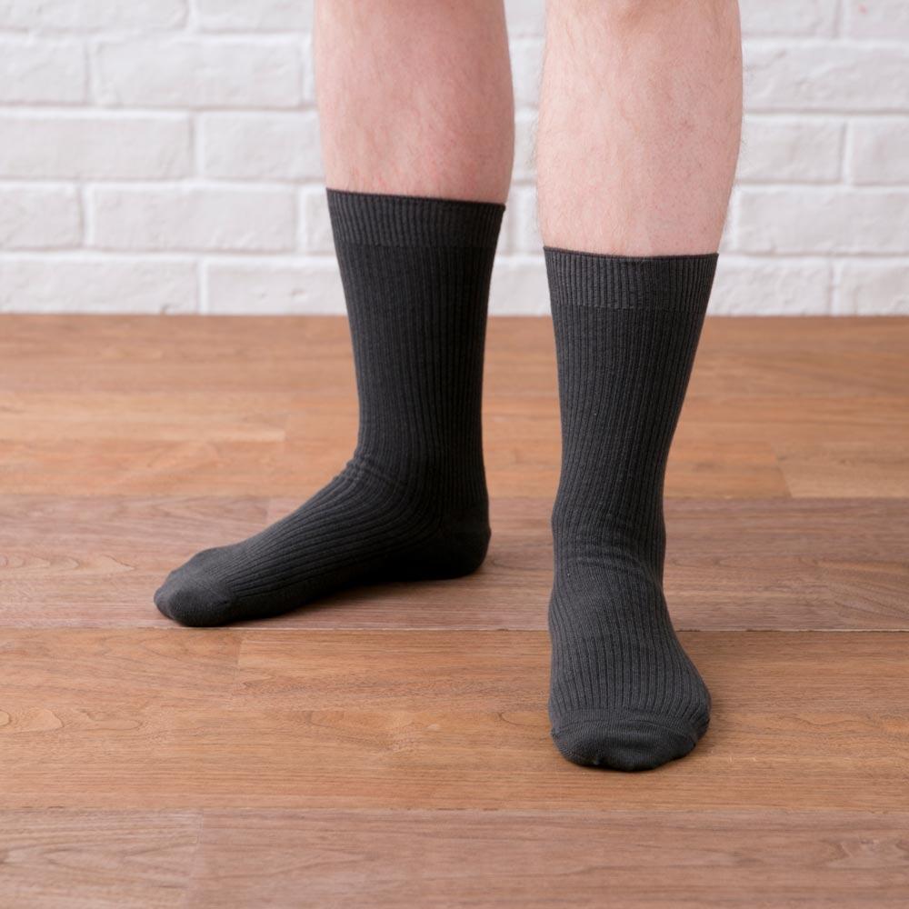 【かかとケア靴下】 歩くぬか袋 メンズリブ