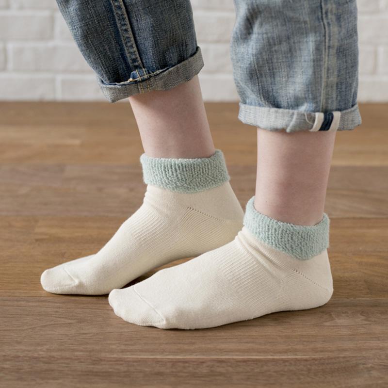 【歩くぬか袋】靴の履きやすい足首やわらかパイル