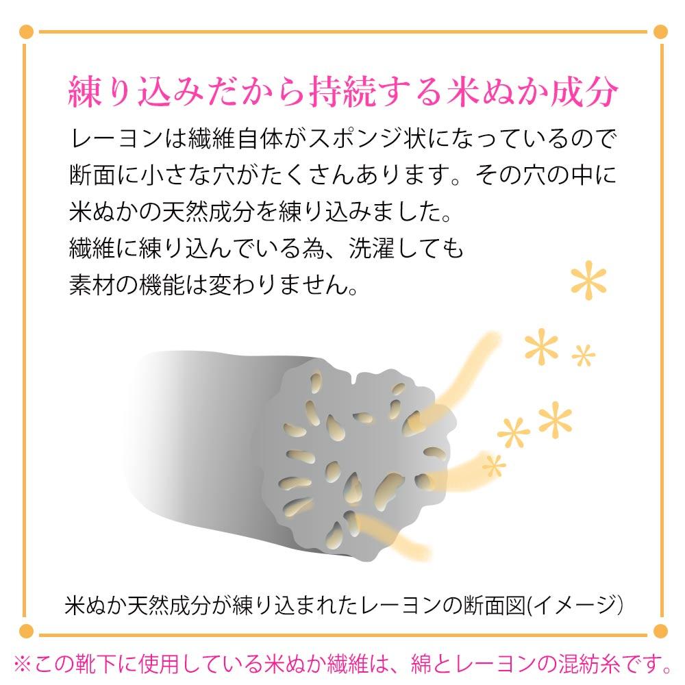【歩くぬか袋】ショートソックス・ボーダー