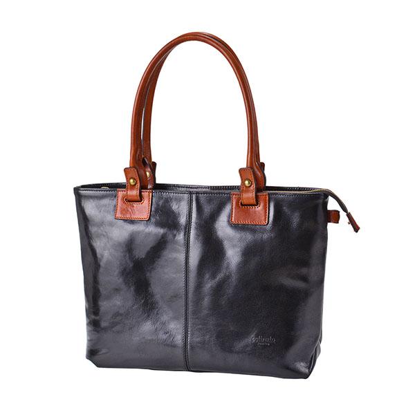 Italian Leather 2tone Tote