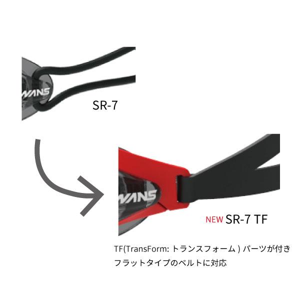 【数量限定】SR-7N TF SMK レーシングノンクッション スイミングゴーグル限定モデル