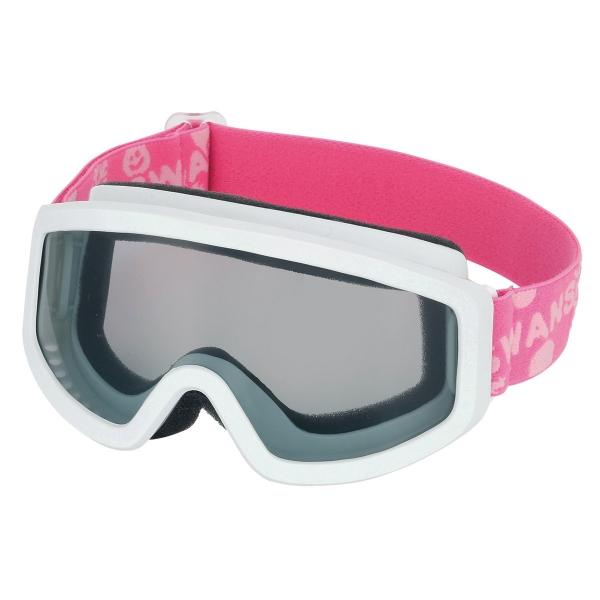 101S W/PI キッズ(子ども用)ゴーグル ホワイト×ピンク
