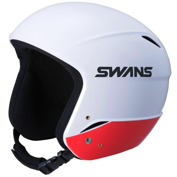 H-70FIS W/RD(ワンサイズ)  レーシング スノーヘルメット