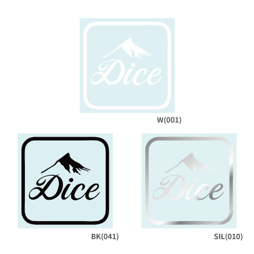 DICE STICKER スクエアロゴステッカー 全3色
