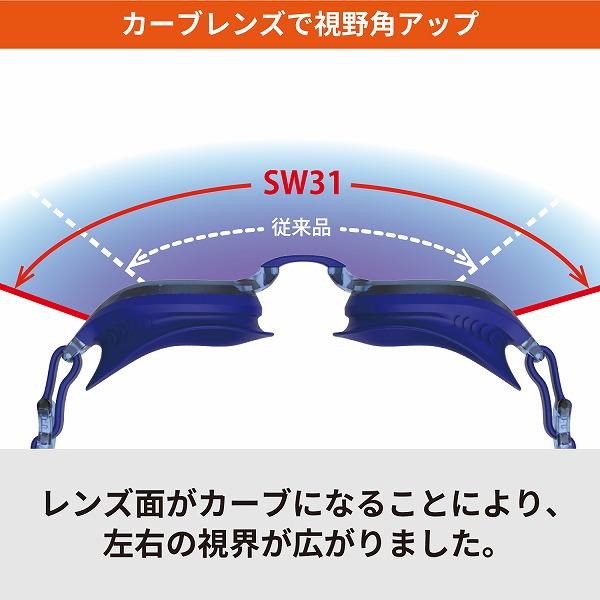 SW31 CLA フィットネスゴーグル Fitnessスイミングゴーグル