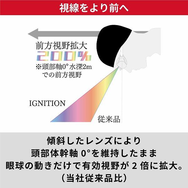 IGNITION-M SMRU 自由形専用ミラーモデル(イグニッション) レーシングクッション付き スイミングゴーグル