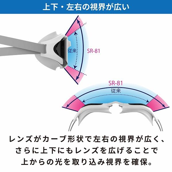SR-81MMITPAF SMBL レーシングクッション付き スイミングゴーグル(MITミラータイプ)