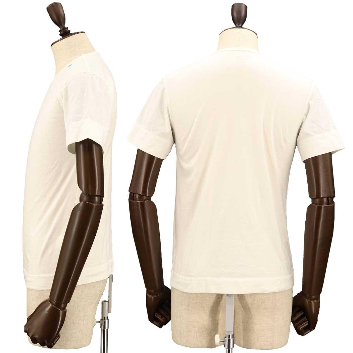 クルーネックTシャツ 刺繍配色(WHITE)