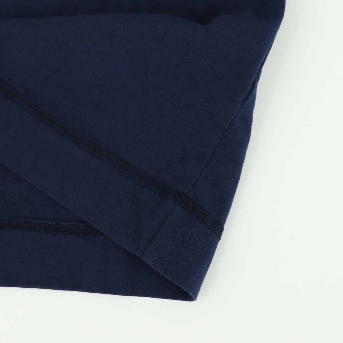 クルーネックTシャツ 刺繍配色(NAVY)