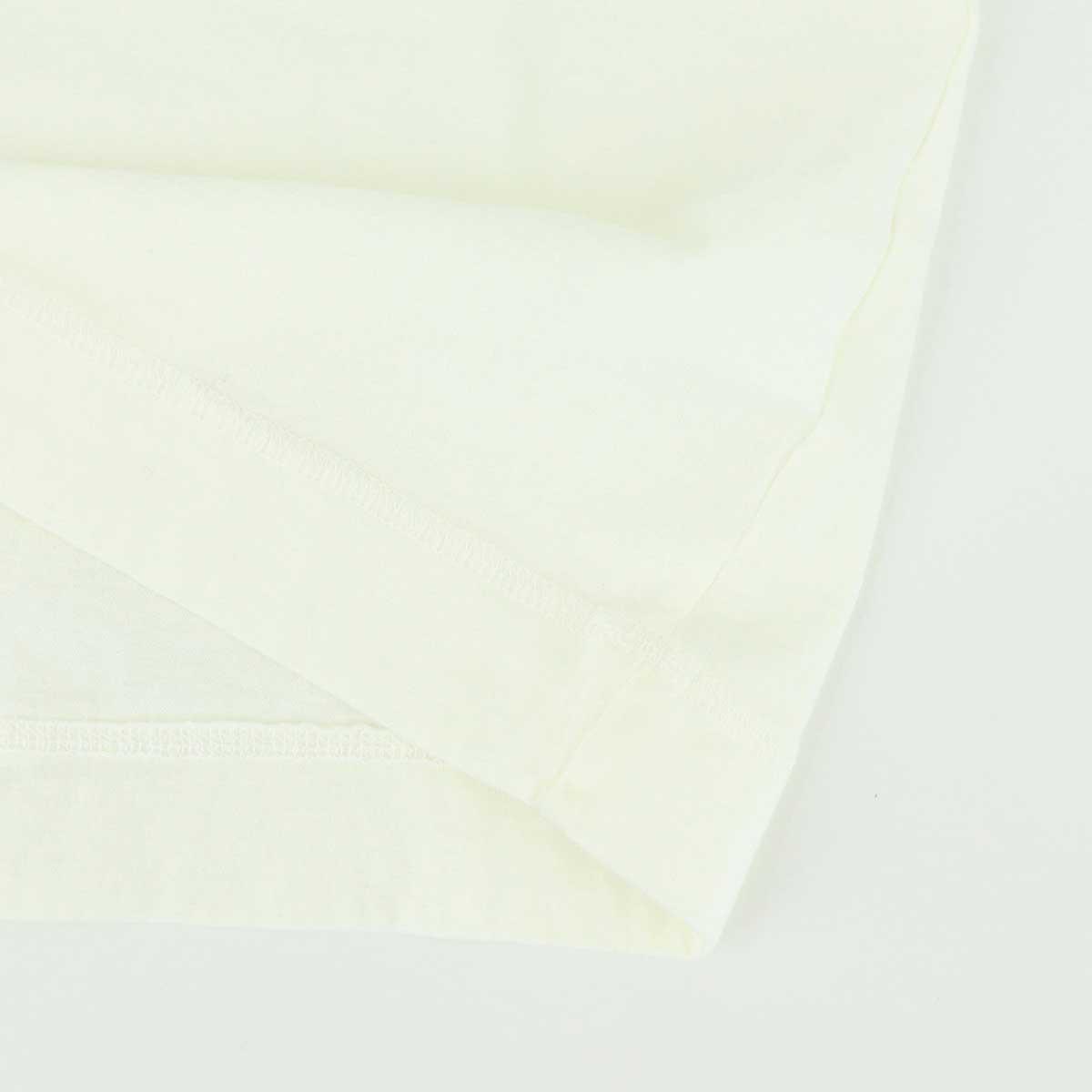 VネックTシャツ 刺繍配色(WHITE)
