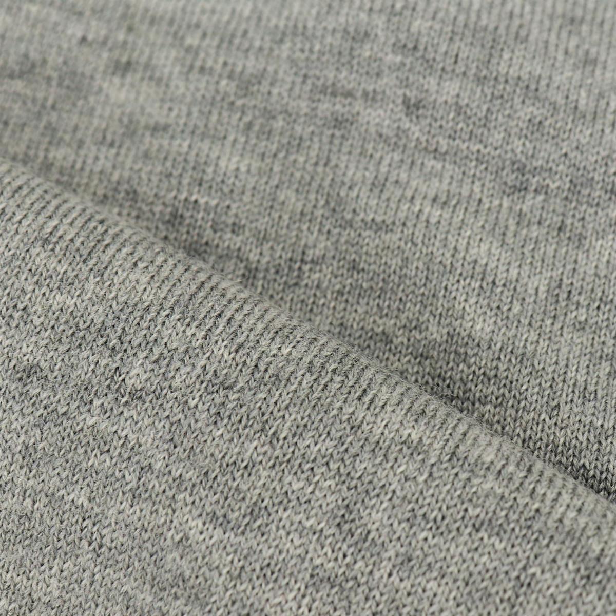 ウール 12G タートルネックセーター SL190001 GRAY(グレー)