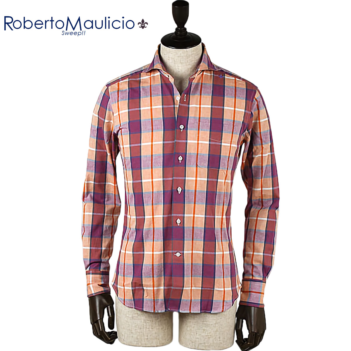 Roberto Maulicio Sweep!! / COTTON EURO-CHECK(PINK)