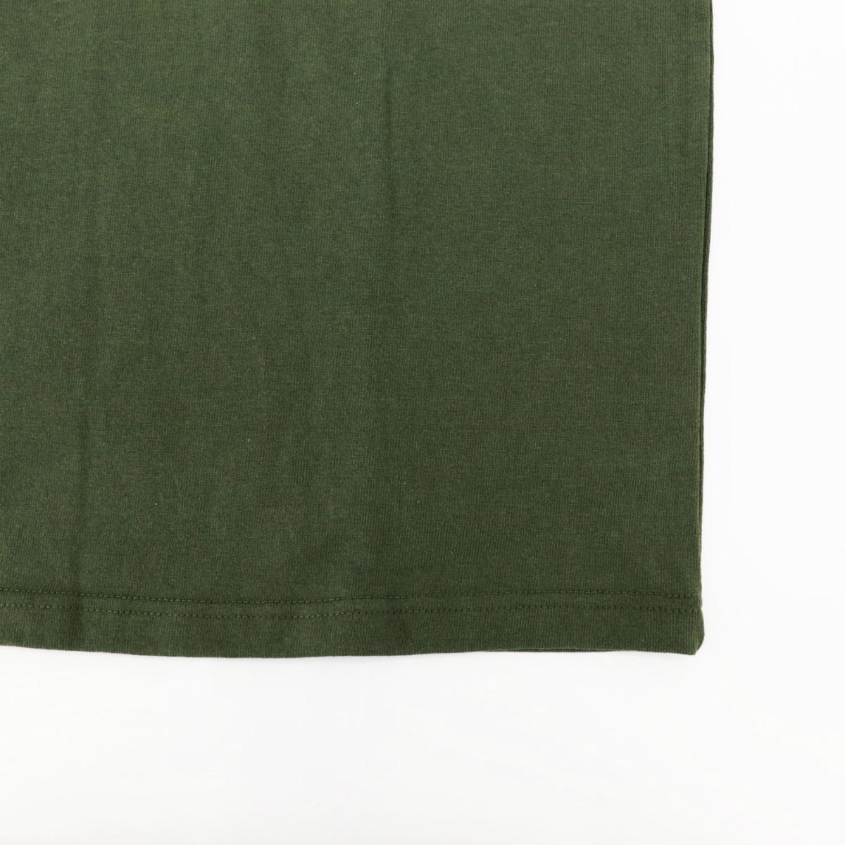 USAコットン クルーネック 半袖 Tシャツ KHAKI(カーキ)
