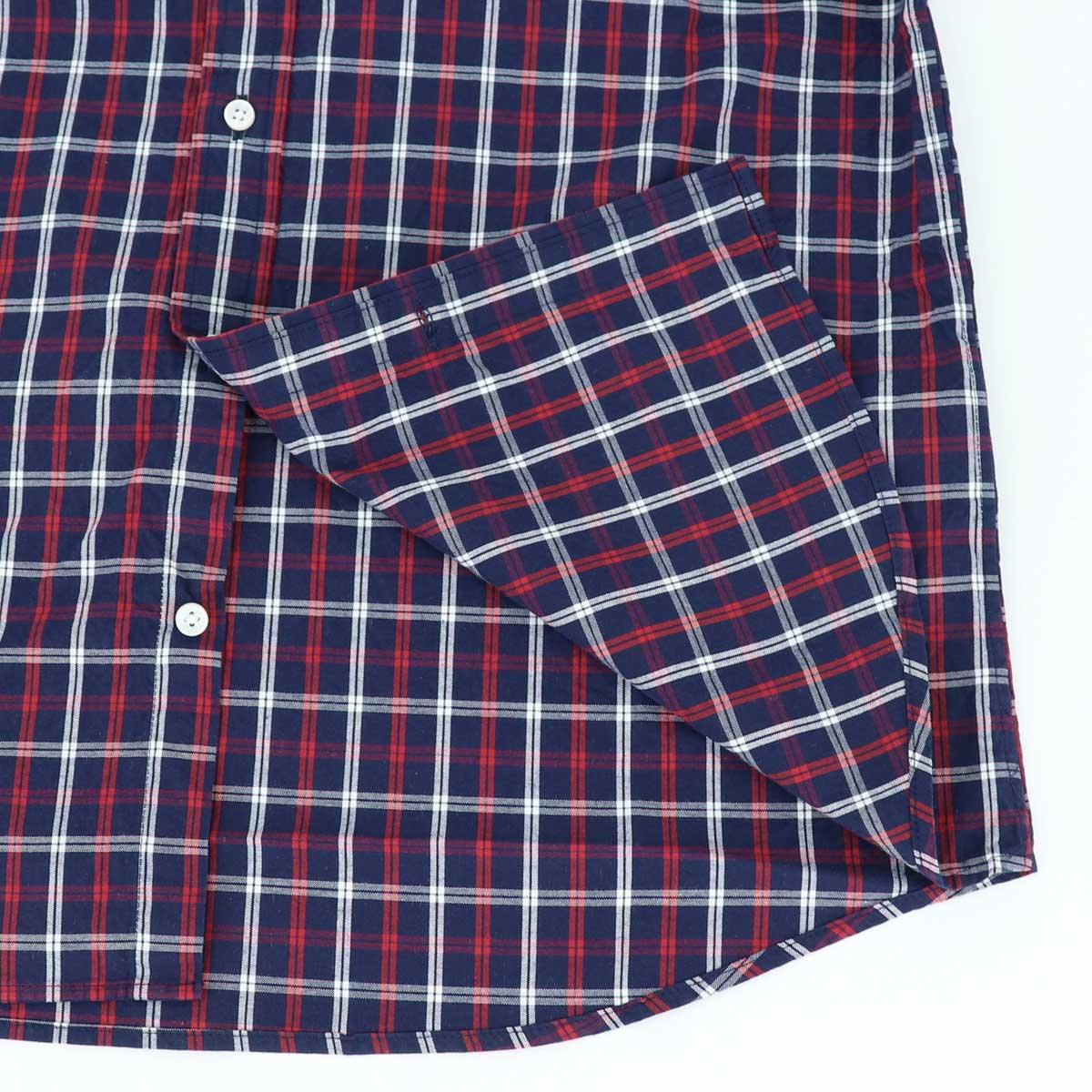 【50%OFF】トラディショナルチェック ボタンダウンシャツ NAVY×RED(ネイビー×レッド)