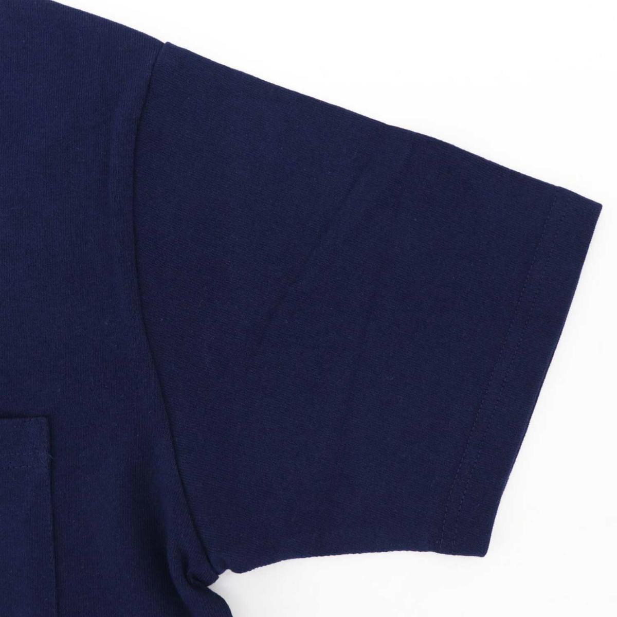 USAコットン クルーネック 半袖 Tシャツ NAVY(ネイビー)