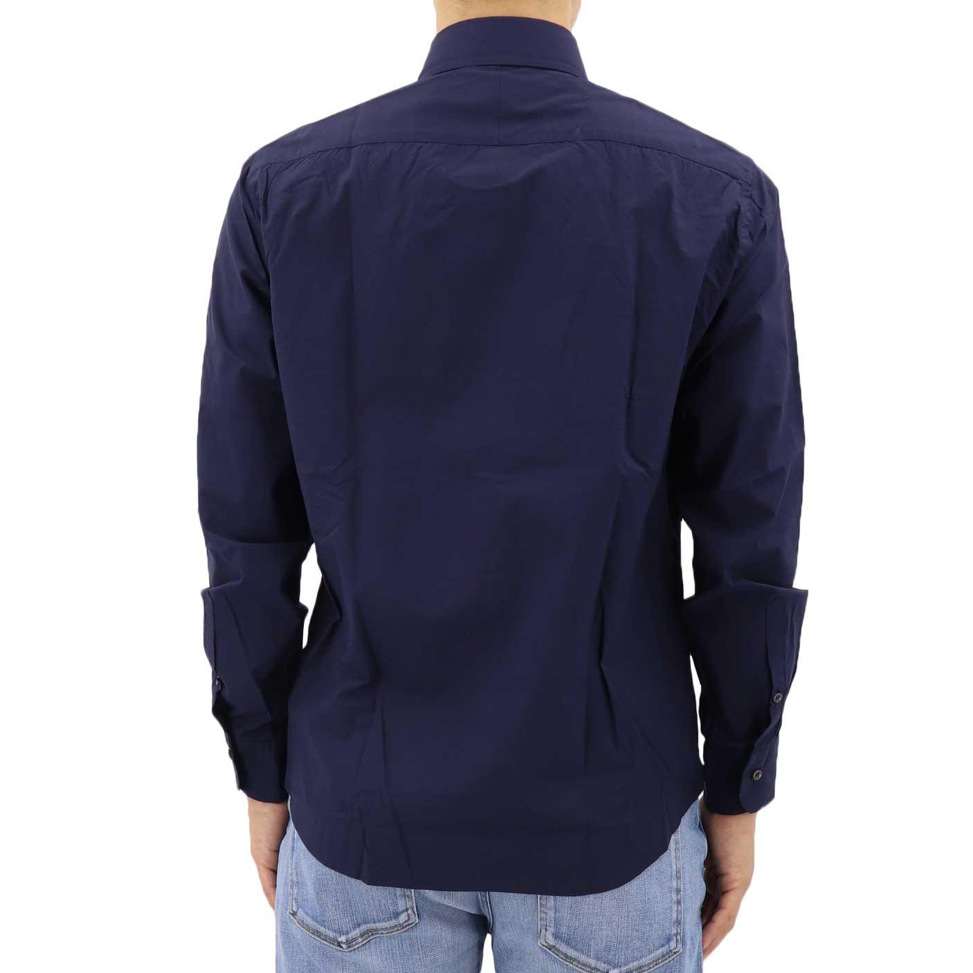 高密度タイプライター ボタンダウンシャツ NAVY (ネイビー)