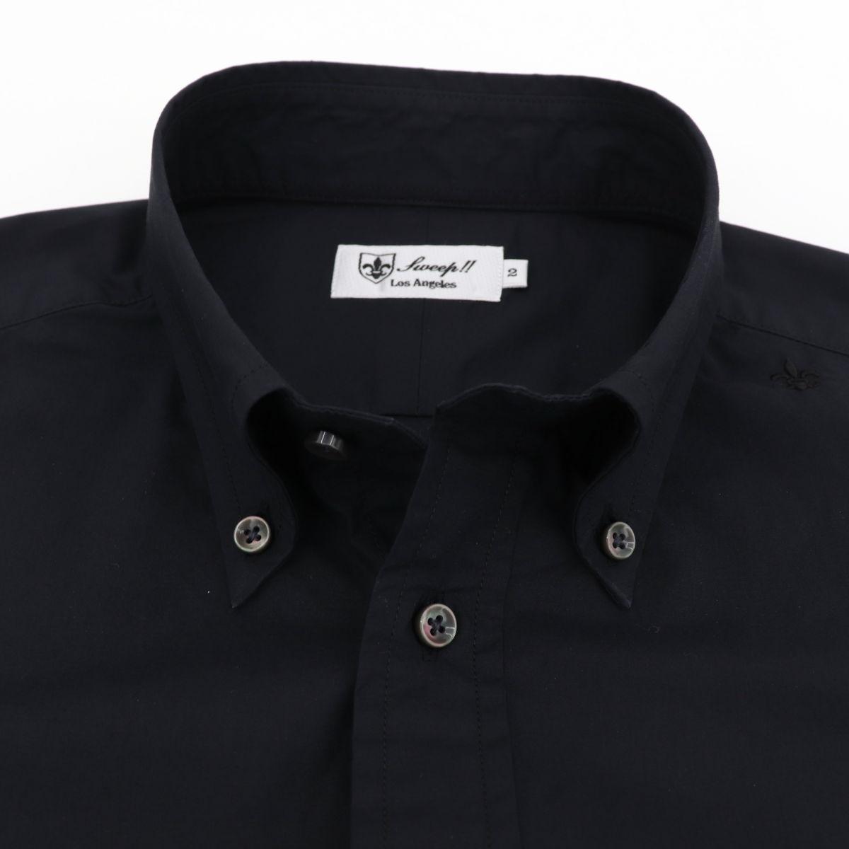 高密度タイプライター ボタンダウンシャツ BLACK (ブラック)