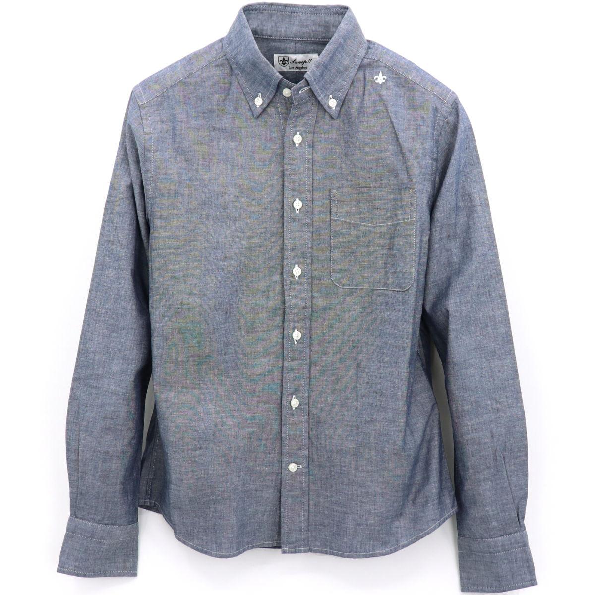 【50%OFF】フレンチリネン ボタンダウンシャツ(NAVY)