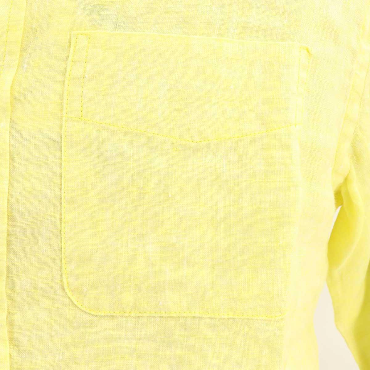 フレンチリネン ボタンダウンシャツ(YELLOW)