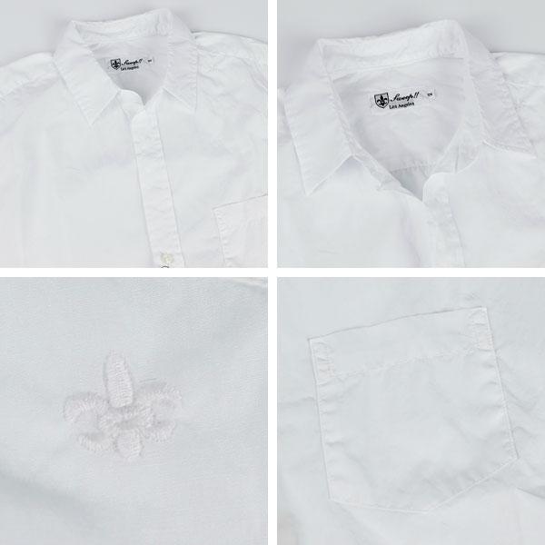 【50%OFF】レディース コットン ポプリン スキッパーシャツ WHIITE(ホワイト)