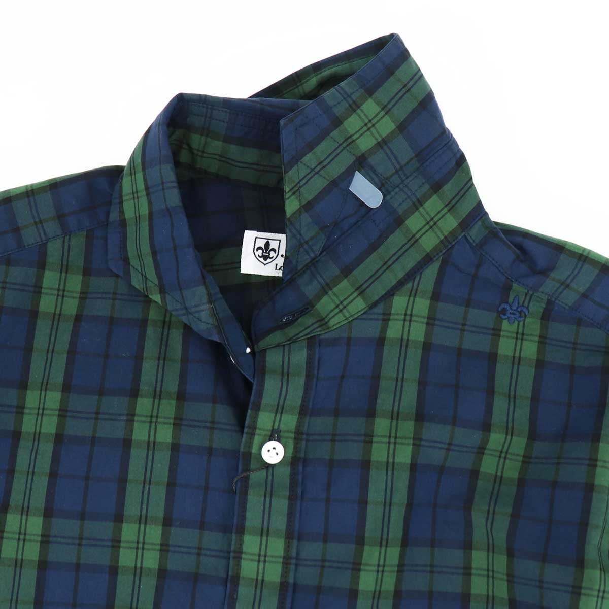 【50%OFF】トラディショナルチェック柄 ホリゾンタルカラーシャツ(GREEN)