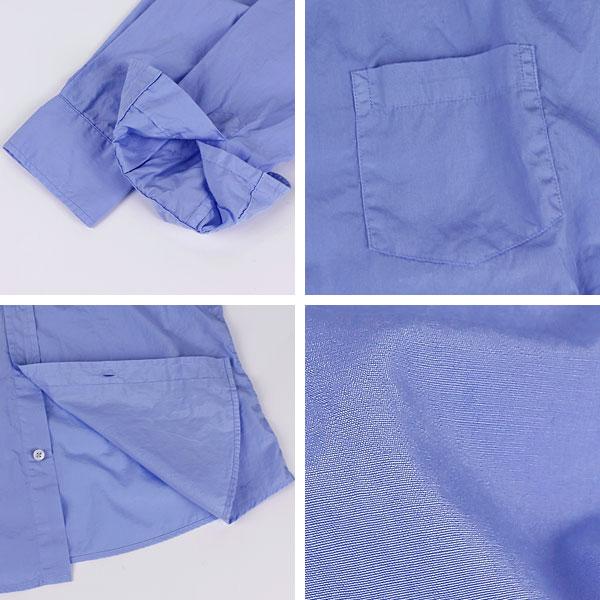 【50%OFF】レディース コットン ポプリン スキッパーシャツ BLUE(ブルー)