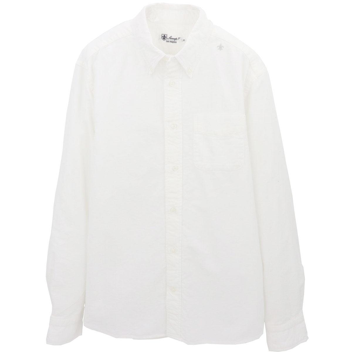 フランネル ボタンダウンシャツ(WHITE)