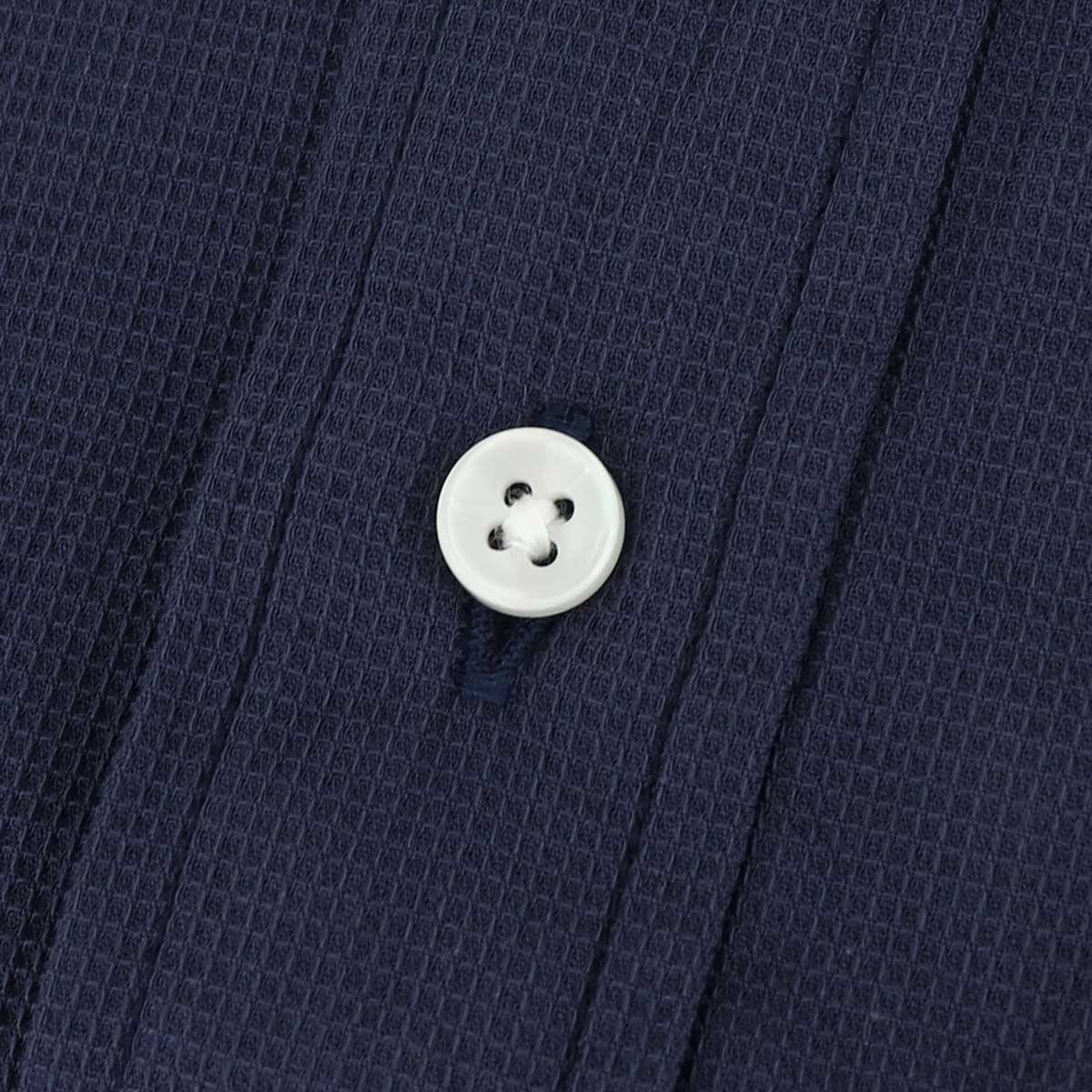 【50%OFF】サーフワッフル ボタンダウンシャツ(NAVY)