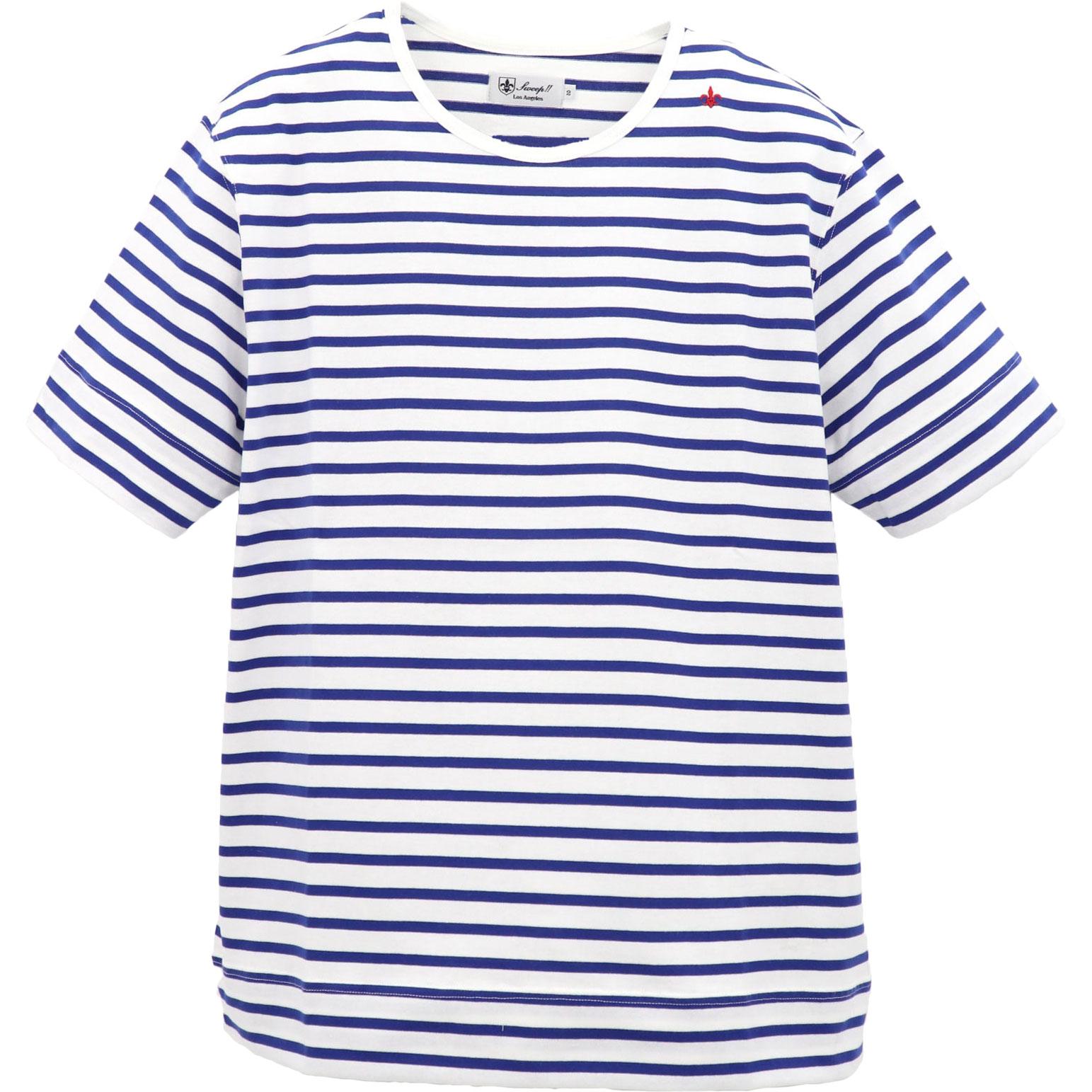 ★定番T-SHIRT ボーダー クルーネック  Tシャツ SL160002 NAVY×WHITE(ネイビー×ホワイト)