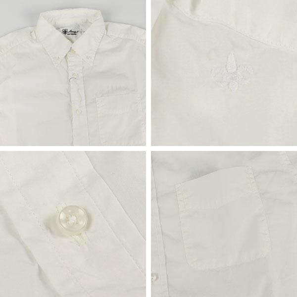 ポプリン ボタンダウンシャツ(WHITE)