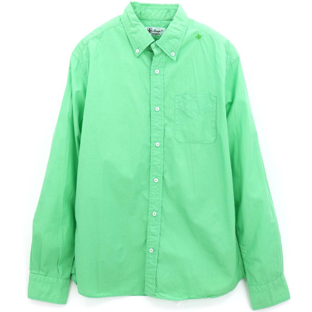 【50%OFF】ポプリン ボタンダウンシャツ GREEN (グリーン)
