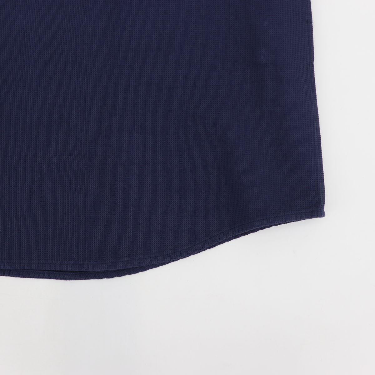 高密度ワッフル ボタンダウンシャツ NAVY (ネイビー)