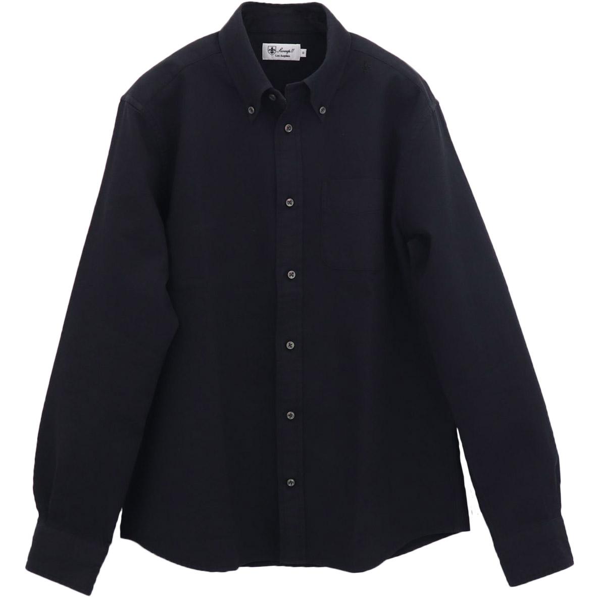 高密度ワッフル ボタンダウンシャツ BLACK (ブラック)