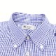 ピンオックスフォード ギンガムチェック ボタンダウンシャツ BLUE×NAVY (ブルー×ネイビー)
