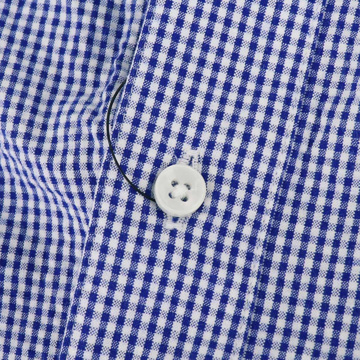 【50%OFF】シアサッカー レギュラーカラー ギンガムチェック カプリシャツ(BLUE)