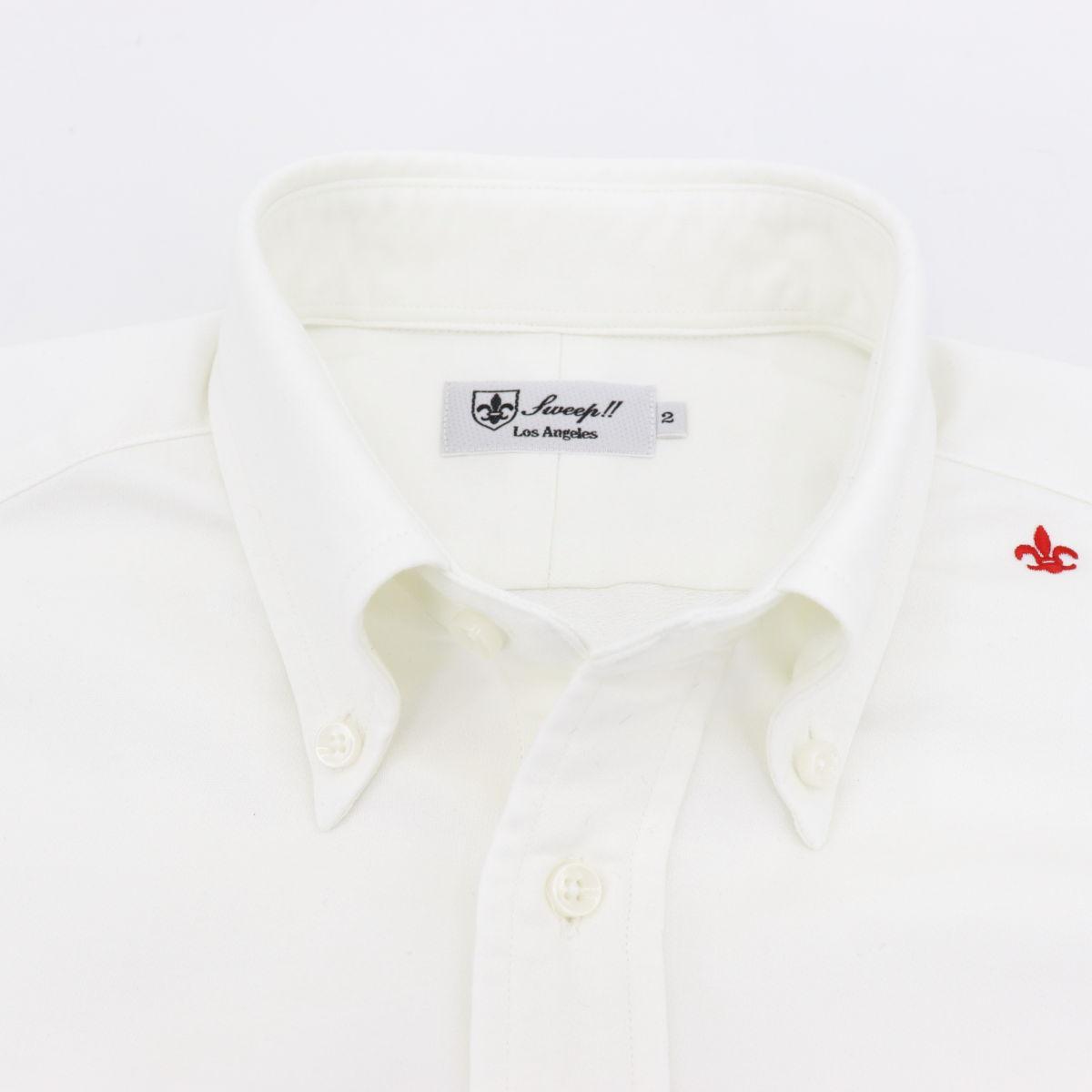 COOLMAX ボタンダウンシャツ WHITE (ホワイト)