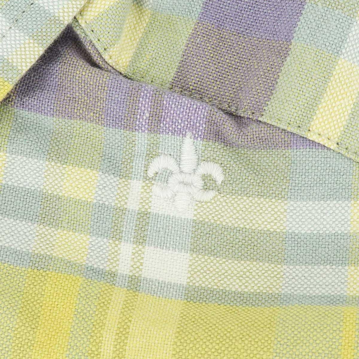 【50%OFF】オックスフォード ヴィンテージチェック ボタンダウンシャツ(PINK×YELLOW)