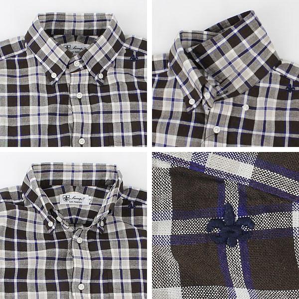 トラディショナルチェック ボタンダウンシャツ(BROWN×NAVY)