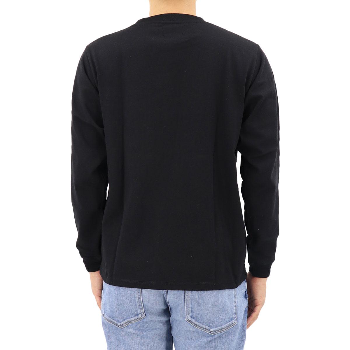 USAコットン クルーネック 長袖 Tシャツ BLACK(ブラック)