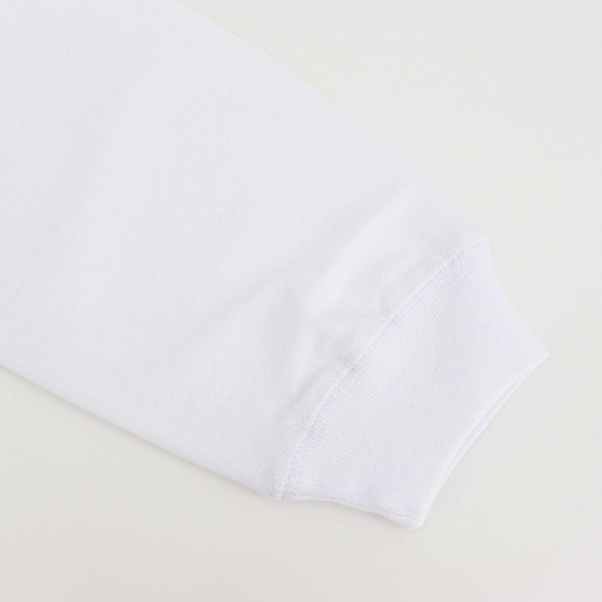 USAコットン クルーネック 長袖 Tシャツ WHITE(ホワイト)