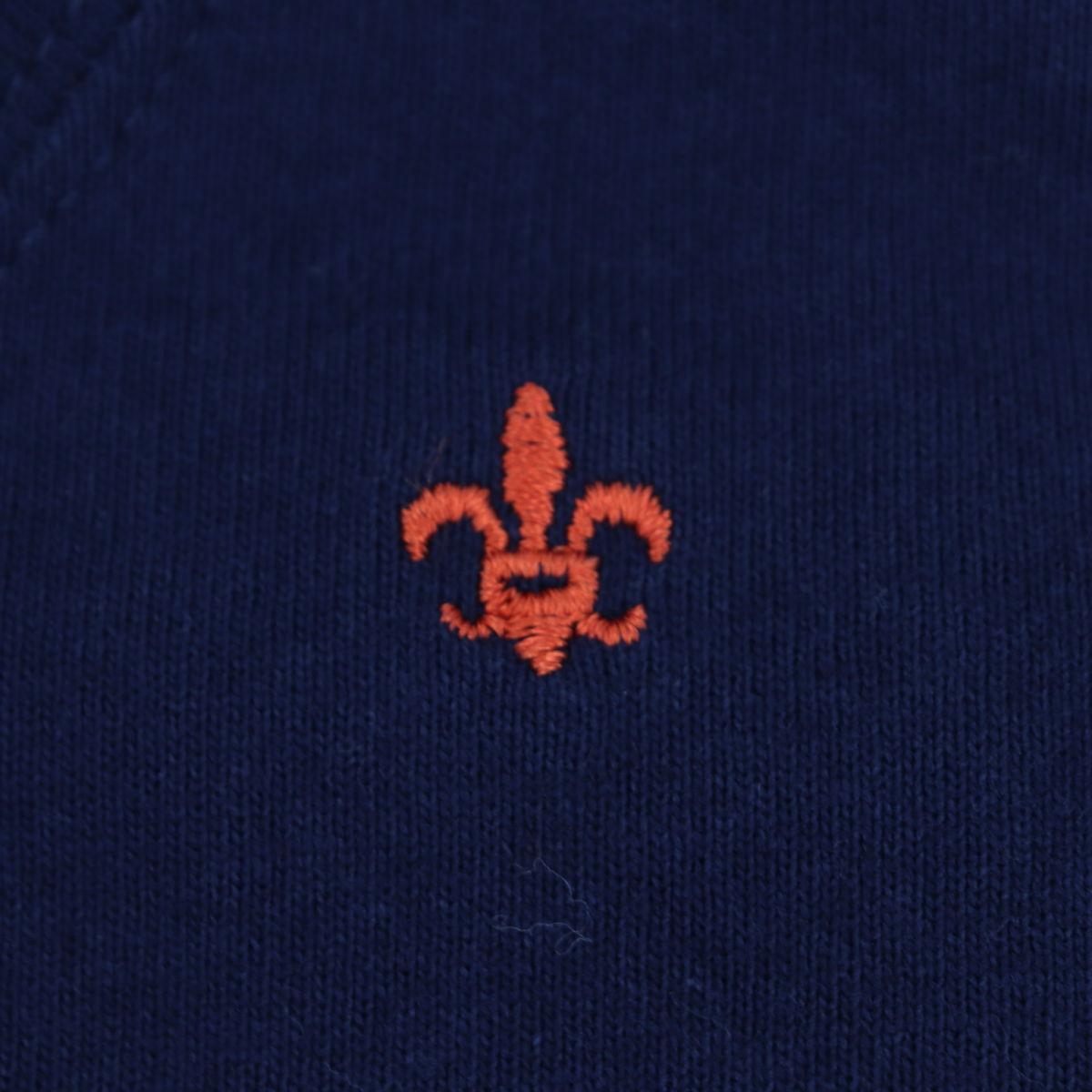 USAコットン クルーネック 長袖 Tシャツ NAVY(ネイビー)