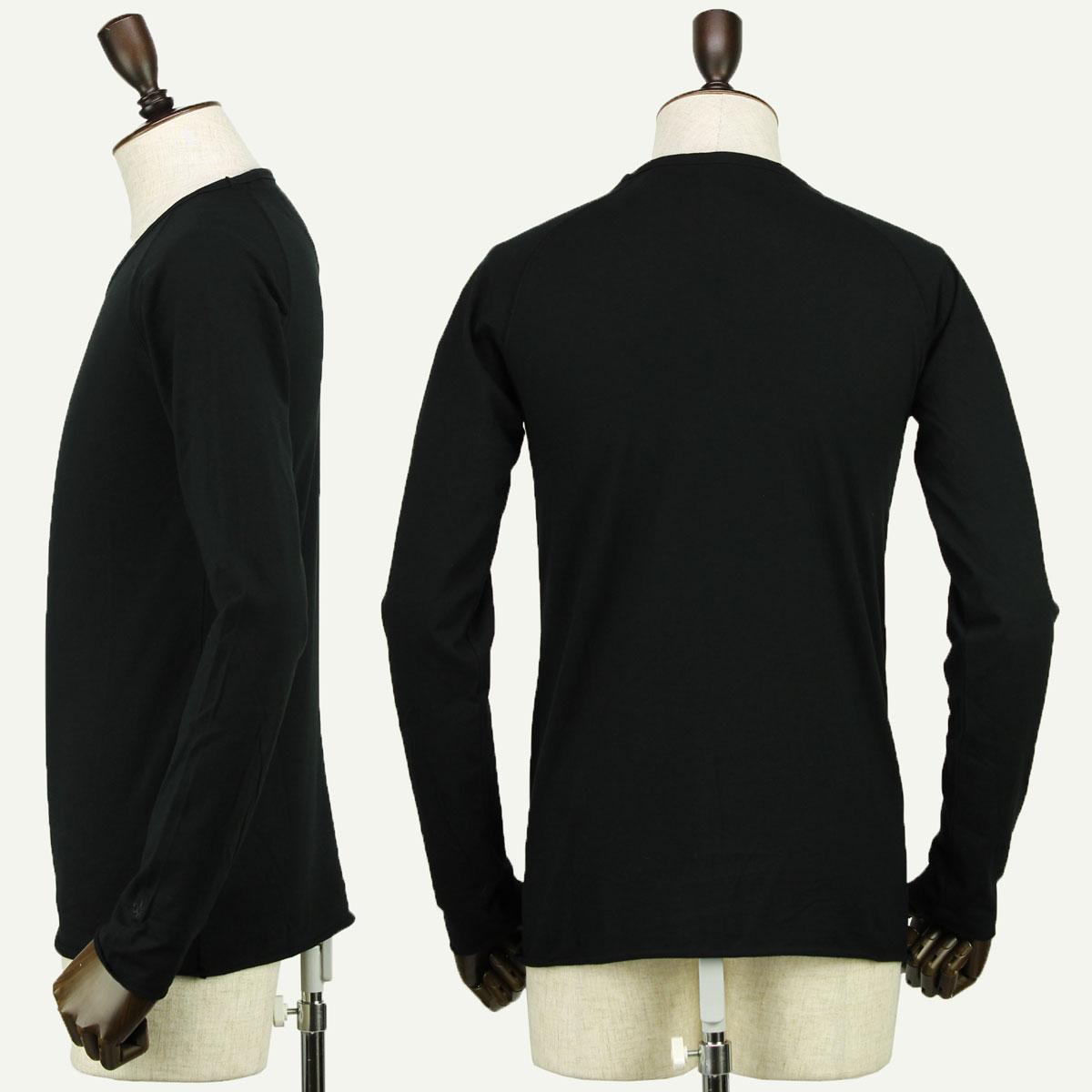 クルーネックTシャツ 長袖(BLACK)