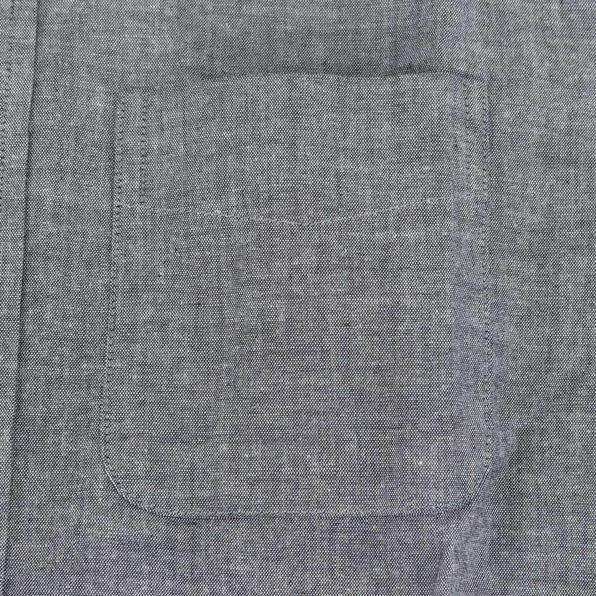 シャンブレー ボタンダウンシャツ(BLACK)