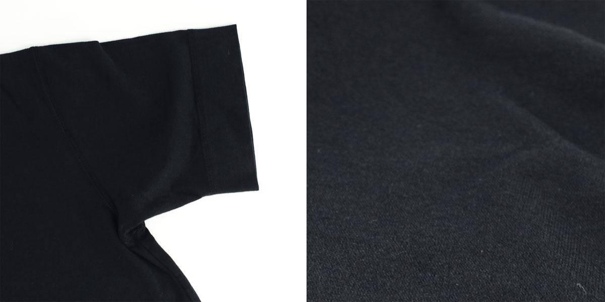 VネックTシャツ 刺繍同色(BLACK)
