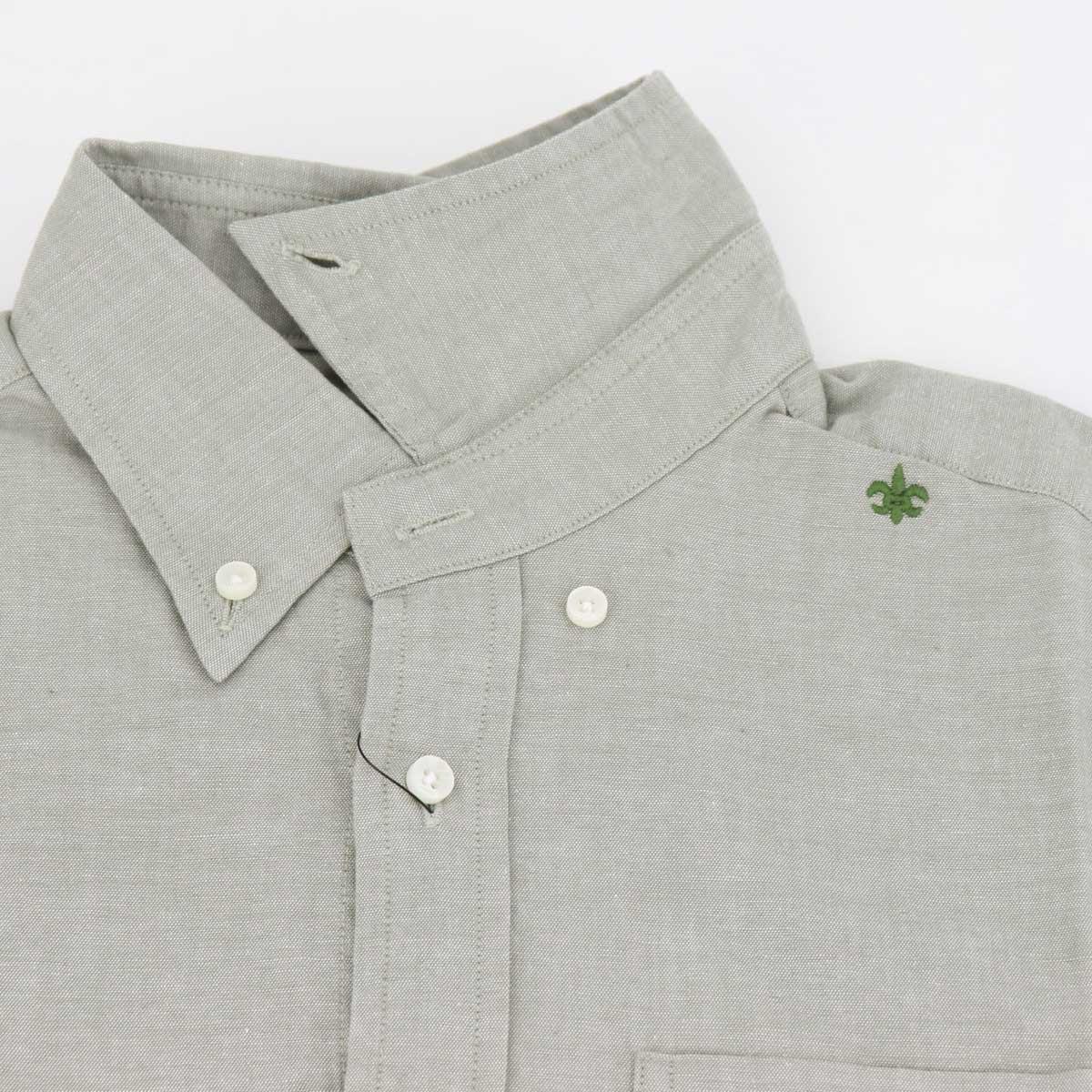 【50%OFF】シャンブレー ボタンダウンシャツ(GREEN)