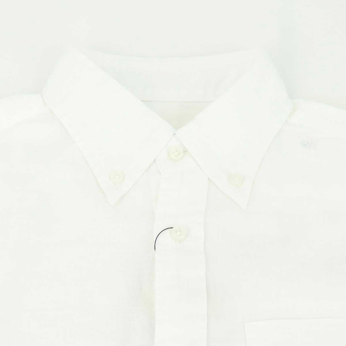 ガーゼ ボタンダウンシャツ(WHITE)