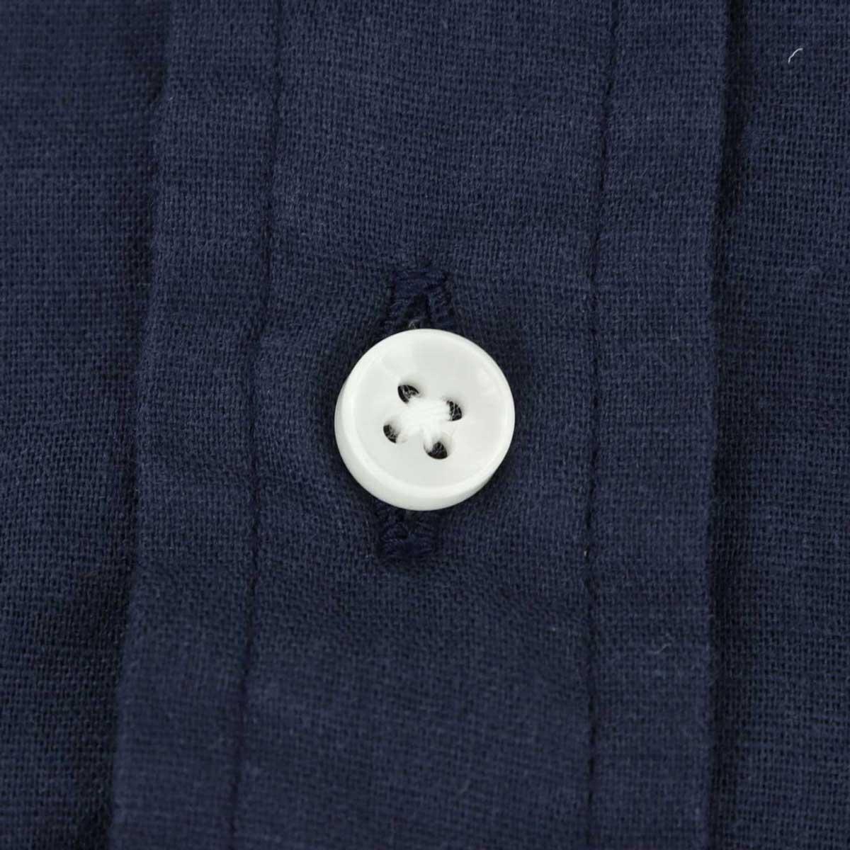 ガーゼ ボタンダウンシャツ(NAVY)