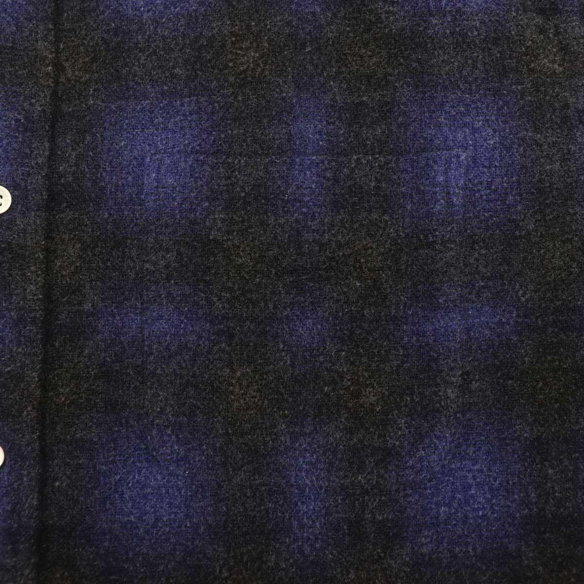 フランネル オンブレチェック ボタンダウンシャツ SL130018 NAVY (ネイビー)